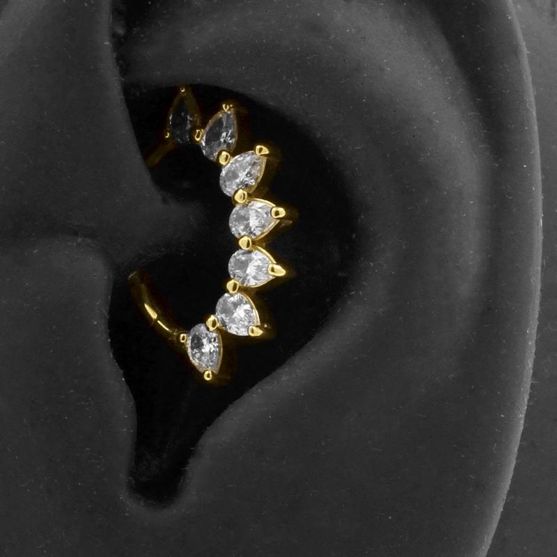 18 karaats gouden sieraden - daith piercing