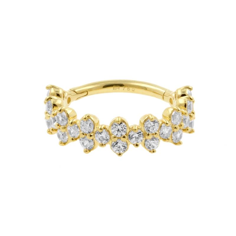 Echt Gouden Conch Click Ring