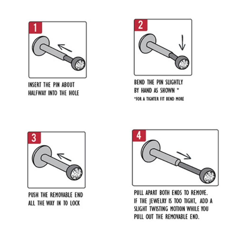Hoe doe je een threadless piercing in?