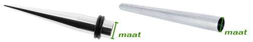 Maatbepaling bij tapers en insertion pins