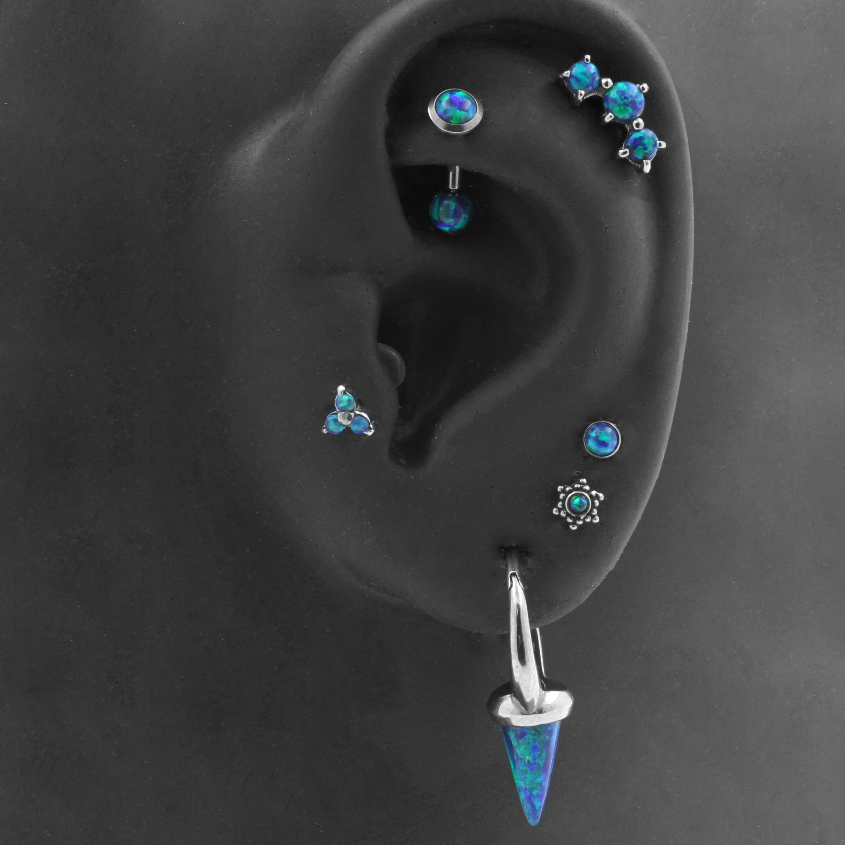 Oor 2 - Earparty Blauw Opaal