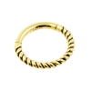 Gold Braided Click Ring - Vintage Look