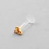Bioplast Labret with Gold Zirconia Trinity