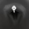 Swarovski Zirconia Belly Ring Clicker