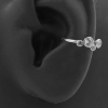 Conch Clicker - Set with Round Cubic Zirconia