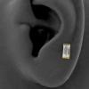 Internally Threaded Tragus Barbell - Zirconia Rectangle 5mm