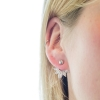 Earring Jacket - Crystal Ovals