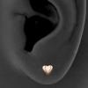 Heart Shaped Ear Studs
