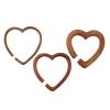 Sawo Wood Heart Hoops