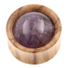 Stone Inlay Wood Plugs - Olivewood & Amethyst