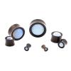 Stone Inlay Wood Plugs - Ironwood & Opalite