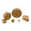 Teak Wood Plug - Concave