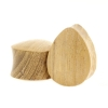 Teak Wood Teardrop Plug - Domed