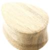 Crocodile Wood Teardrop Plug - Flat