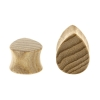 Sungkai Wood Teardrop Plug - Flat