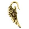 Brass Ear Weights Angel Wings