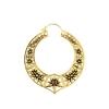 Brass Hoops - Opal Star