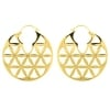 Brass Hoops - Flower Of Life
