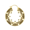 Brass Hoops - Tribal Circles