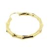 Brass Hoops - Bamboo