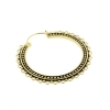Brass Hoops - Dotted Lace