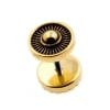 Brass Fake Plugs - Stripes