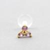 Bioplast Labret Stud - Gold And Pink Sapphire Trinity