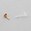 Bioplast Labret Stud - Gold With Swarovski Zirconia