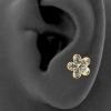 Gold Swarovski Zirconia Blossom