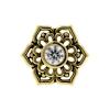 Gold Swarovski Zirconia Tribal Flower