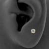 Gold Swarovski Zirconia Attachment Round