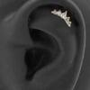 Gold Swarovski Zirconia Royal Curve