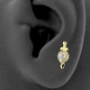 Gold Swarovski Zirconia Dagger & Heart