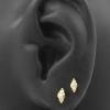 Gold Swarovski Zirconia Cluster