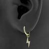 Gold Click Ring Charm - Zirconia Flash