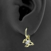 Gold Click Ring Charm - Zirconia Butterfly