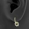Gold Click Ring Charm - Zirconia Gemmed Ring