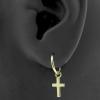 Gold Click Ring Charm - Cross