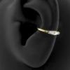 Gold Conch Clicker - Swarovski Zirconia Trapezoids