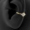 Gold Conch Clicker - Swarovski Zirconia Marquise Diamond