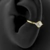 Gold Conch Clicker - Swarovski Zirconia Marquise Diamond