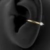 Gold Conch Clicker - Swarovski Zirconia Marquise