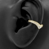 Gold Conch Clicker - Zirconia Tiara