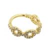 Gold Conch Clicker - Zirconia Chain