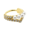 Gold Conch Clicker - Zirconia And Pearl Tiara