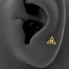 Triangle Dots Cluster Titanium Labret