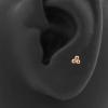 Internally Threaded Labret Stud - Triple Dots 3 mm