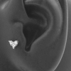 Zirconia heart Titanium Labret