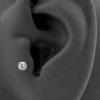 Jewelled Bioplast Labret - 3mm Swarovski Zirconia