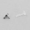 Jewelled Bioplast Labret - Swarovski Zirconia Cross 6mm